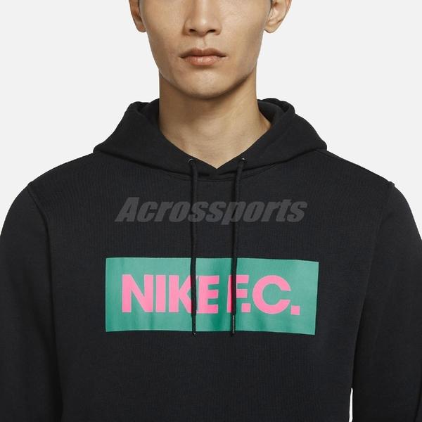 Nike 長袖T恤 Nike F.C. Hoodie 黑 粉 男款 帽T 足球 運動休閒 【ACS】 CT2012-011