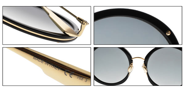 Dior 太陽眼鏡 HYPNOTIC1 2M21I (黑金-藍鏡片) 歐美時尚前衛造型款 墨鏡 #金橘眼鏡