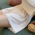 內搭褲寬鬆安全褲女防走光薄款打底褲短褲蕾絲夏不卷邊【時尚大衣櫥】