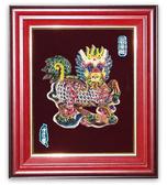鹿港窯-交趾陶居家開運裝飾壁飾~L四寶麒麟