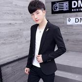休閒西服男士韓版修身上衣服青年帥氣小西裝潮流男裝外套【米蘭街頭】