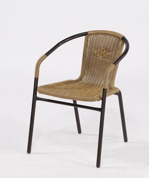 【南洋風休閒傢俱】戶外桌椅系列-鋁合金玻璃圓桌椅組  戶外休閒餐桌椅組  咖啡桌椅組(TC80+HC063)