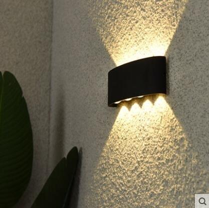 超實惠 壁燈 LED戶外壁燈陽台防水外牆樓梯燈簡約室外露台花園過道庭院牆壁燈W8091
