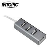 INTOPIC 廣鼎 USB 2.0鋁合金集線器 HB-27-GR