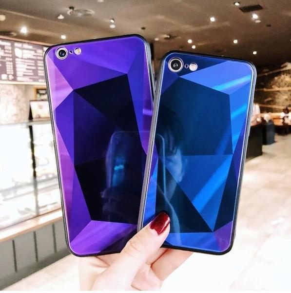 IPhone Xs Max 四維立體保護套 菱形防摔手機殼 蘋果 Xs 潮牌防摔保護套 蘋果 XR 情侶玻璃保護套