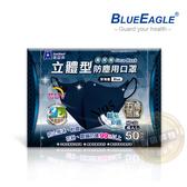 【醫碩科技】藍鷹牌 NP-3DBD 台灣製 成人立體型防塵口罩 五層防護 抗UV款 深海藍 50入/盒