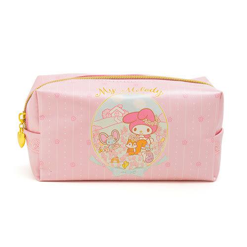《Sanrio》美樂蒂40週年快樂紀念日系列珠光大容量筆袋/化妝包(花園好朋友)★funbox生活用品★_UA47315