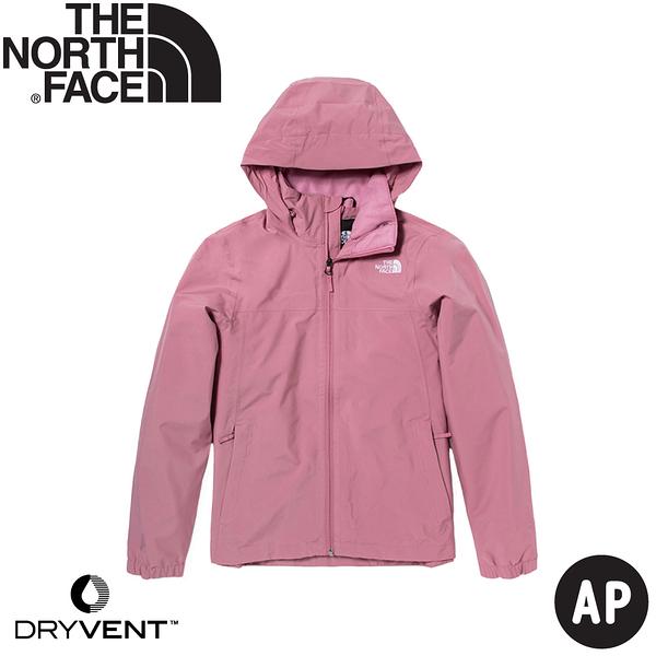 【The North Face 女 DV防水外套 AP《粉》】5AZZ/衝鋒衣/防水外套/風雨衣