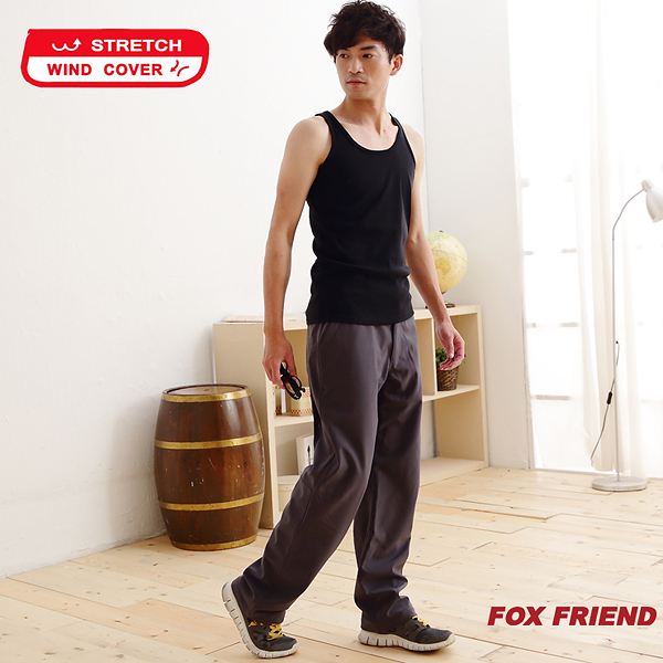 【FOX FRIEND】WIND COVER 防風保暖彈性休閒褲 P541