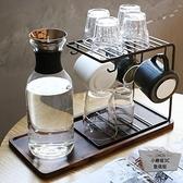 玻璃瀝水家用水杯掛架咖啡杯杯子架水杯收納杯架托盤置物架【小柠檬3C】