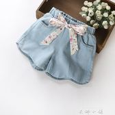 女童短褲女孩外穿2018夏季新款兒童裝中大童牛仔褲夏裝薄款熱褲潮   米娜小鋪