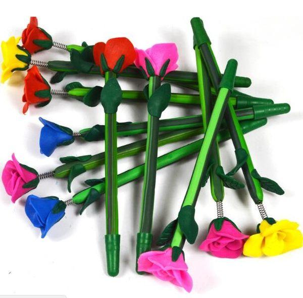【BlueCat】仿真玫瑰花陶藝原子筆