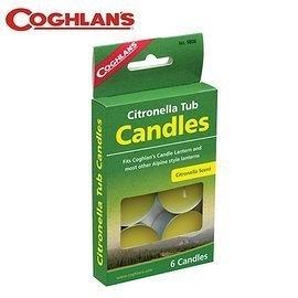 丹大戶外【Coghlans】加拿大 CITRONELLA TUB CANDLES 香茅小蠟燭 9806