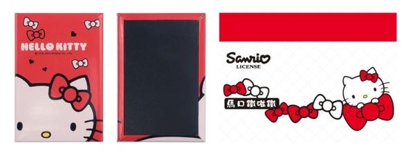 正版 三麗鷗系列 凱蒂貓 KT 馬口鐵磁鐵 造型磁鐵 冰箱貼磁鐵 紅色款 COCOS TT001