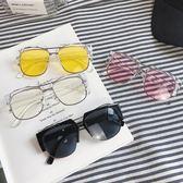 日繫大框眼鏡男女帥氣太陽鏡方形眼鏡平光鏡【聚寶屋】