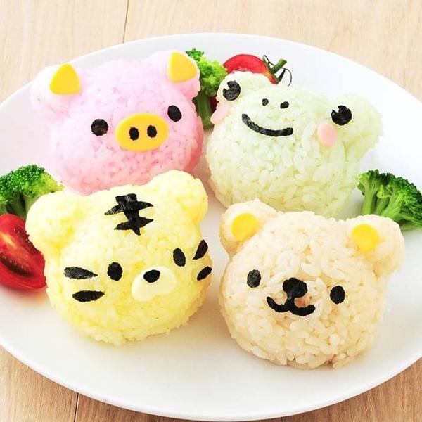 [拉拉百貨]小熊夥伴飯糰模具 動物 壓花押花 餅乾模具 親子便當壽司DIY製作工具 野餐