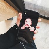 歐美搞怪鬼臉蘋果X手機殼iPhone7plus/8/6s情侶全包玻璃殼殼個性 七夕情人節特惠