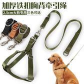 金毛狗鏈子大型犬狗狗牽引繩帶胸背帶遛狗繩子中型薩摩耶寵物用品