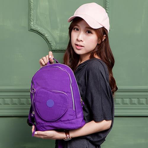 COUNT DUCK 美系悠活輕量愛心輕旅後背包-CD-019(兒童款)- 紫色