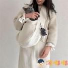 貓包外出便攜寵物貓咪狗狗背包斜挎小型犬帆布包包【淘嘟嘟】