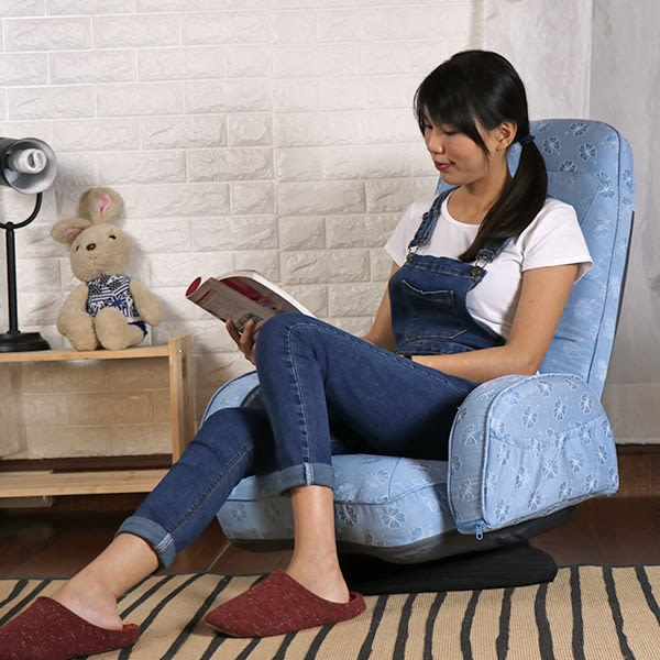 轉盤和室椅 電腦椅 休閒椅《低轉盤經典扶手和室椅》-台客嚴選