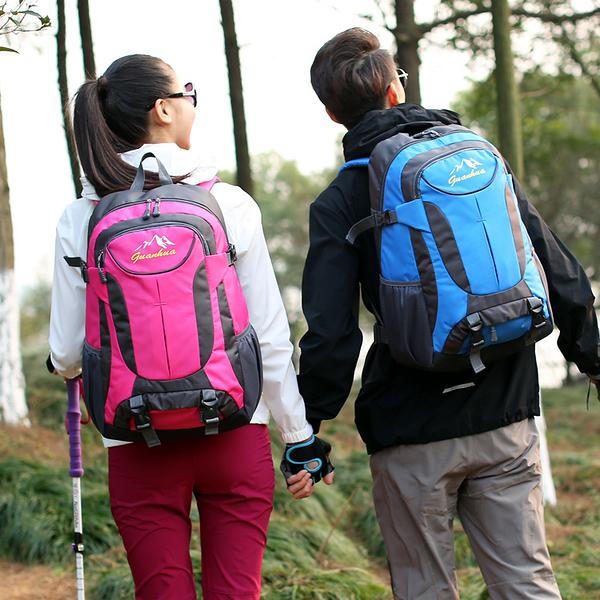 戶外登山包大容量男士旅行背包旅游後背包女運動書包【快速出貨】