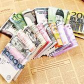 男款錢包短款個性創意人民幣圖案100元青年韓版學生紙幣皮夾子潮  百搭潮品