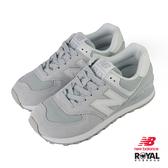 New balance 574 灰藍色 麂皮 休閒運動鞋 女款.NO.J0116【新竹皇家 WL574QAA】