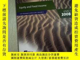 二手書博民逛書店Equity罕見and Fixed Income LEVEL 1