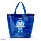小禮堂 哆啦A夢 透明海灘袋 水桶提袋 游泳袋 泳具袋 防水袋 (深藍 2021炎夏企劃) 4550337-47402