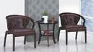 【南洋風傢俱】房間椅洽談椅系列-咖啡色休閒小圓桌椅組 CX897-2 CX607-5