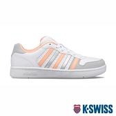 【超取】K-SWISS Court Palisades 時尚運動鞋-女-白/蜜桃橘