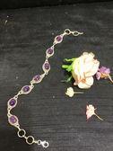 《 SilverFly銀火蟲銀飾 》紫水晶純銀手鍊