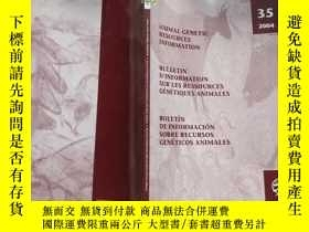 二手書博民逛書店ANIMAL罕見GENETIC RESOURCES INFORM