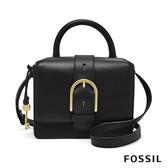FOSSIL WILEY 真皮復古美型提耳側背包-黑色 ZB7880001