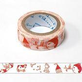 ★funbox生活用品★《Shinzi Katoh 加藤真治》紙膠帶15mm(小木偶)_ZI02621