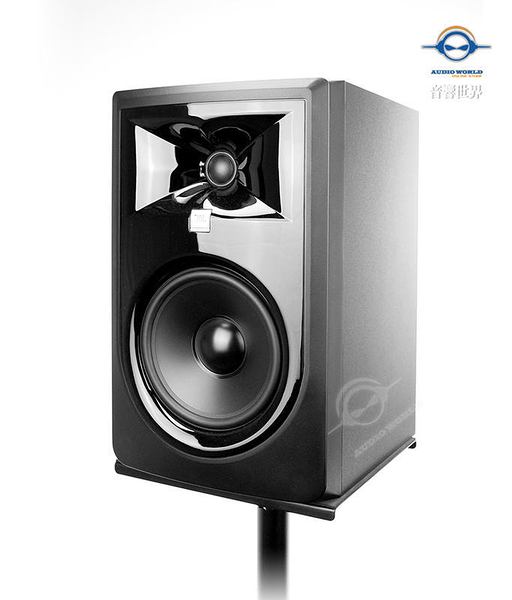 【音響世界】JBL 306P MKII新3系6.5吋112W主動式監聽喇叭- 美製訊號線+On-Stage專業喇叭架-免運0利率