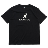KANGOL 短袖 短T 黑 袋鼠 大LOGO 棉 休閒 男女 (布魯克林) 6021100120