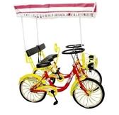 雙人自行車 四輪兩人騎情侶車親子三人家庭旅游觀光車