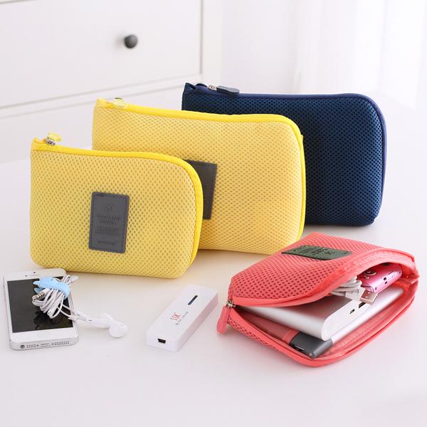 小飛機收納網格袋(L) 數位收納包 旅行收納包 行動電源收納包 零錢包 手機包【B026】MY COLOR