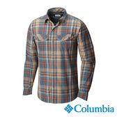 Columbia 男 長袖防曬30快排襯衫-棕色格紋 UAE74410ZG【GO WILD】