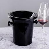 塑料吐酒桶紅酒桶香檳桶盲品桶冰桶冰粒黑色酒會小專業酒桶黑CC2978『毛菇小象』