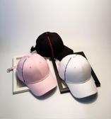 韓版棒球帽秋英文刺繡鴨舌帽鐵環嘻哈帽男情侶遮陽帽
