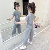 女童網紅套裝洋氣2021新款夏裝中大兒童夏天潮流衣服女孩夏季時髦1 幸福第一站