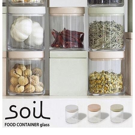 【南紡購物中心】日本 soil 圓形玻璃食材罐-共三色