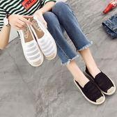夏季低筒平底帆布鞋女鏤空單鞋老北京布鞋漁夫鞋一腳蹬網布懶人鞋