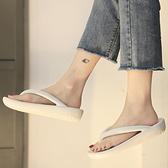 夏季人字拖女夏ins潮外穿2020新款時尚厚底增高百搭沙灘鞋涼拖女