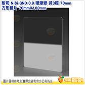 耐司 NiSi GND 0.9 硬漸變 減3檔 70mm 方形鏡片 70mmX100mm 公司貨