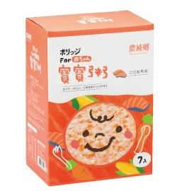 【愛吾兒】農純鄉 巧巧鮭魚粥 精緻小盒(7包入) 寶寶粥 (HD05)