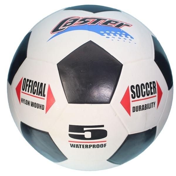 CASTER 5號足球 (橡膠五角黑格.黃黑格)/一個入(定250) 標準比賽用足球-群